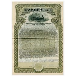 Kansas City and Atlantic Railroad Company, Southern Division, 1893 Specimen Bond.