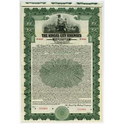 Kansas City Railways Co., 1915 Specimen Bond