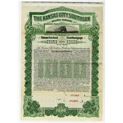 Kansas City Southern Railway Co., 1900 Specimen Bond