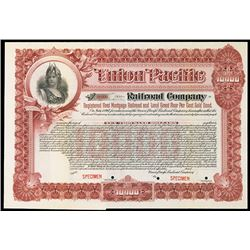 Union Pacific Railroad Co., 1897 Specimen $10,000 Bond.