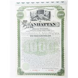 Manhattan Railway Co., 1890 Specimen Bond.