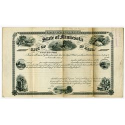 State of Minnesota City of St. Paul, 1860s Specimen Bond