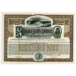 Niagara Falls Power Co. 1909 Specimen Registered Bond.