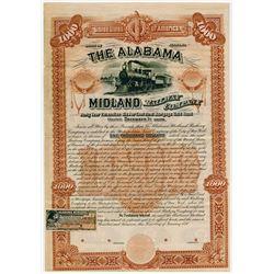 Alabama Midland Railway Co. 1890. Specimen Bond.