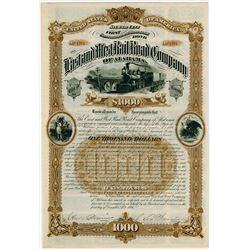 East & West Rail Road Co of Alabama. 1886. Specimen Bond.