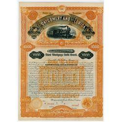 Montgomery & Florida Railway Co. ND. Specimen Bond.