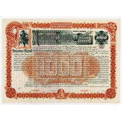 Northwest & Florida Railroad Co. 1888. Specimen Bond.