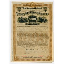 Tennessee and Coosa Railroad Co., 1888 Specimen Bond