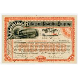 Florida Railway & Navigation Co. 1987. I/U Stock Certificate.