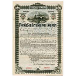 Florida Southern Railroad Co. 1892. Specimen Bond.