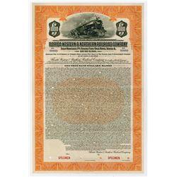 Florida Western & Northern Railroad Co. 1924. Specimen Bond.