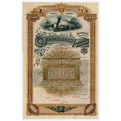 Orange Belt Railway Co. 1887. Specimen Bond.
