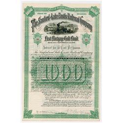 Sanford & Lake Eustis Railroad Co. 1886. I/U Bond.
