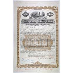 South Florida Railroad Co., 1885 Unique Approval Proof Bond