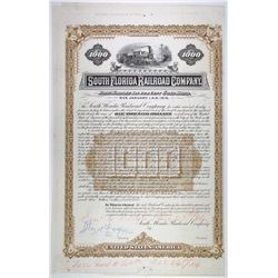 South Florida Railroad Co., 1885 Unique Approval Proof Bond
