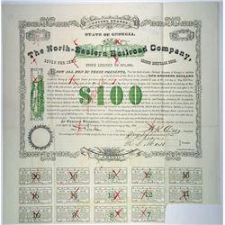 North-Eastern Railroad Co., 1878 I/C Bond Rarity.
