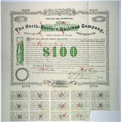 North-Eastern Railroad Co., 1878 I/C Bond Rarity.