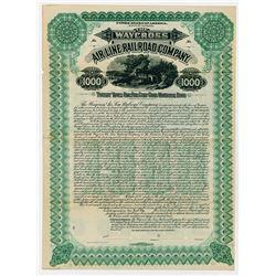 The Waycross Air Line Railroad Co. 1900. Issued Bond.