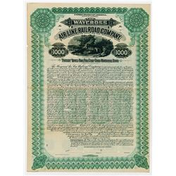 The Waycross Air Line Railroad Co. 1900. Issued Bond.