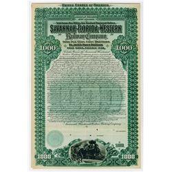 Savannah Florida & Western Railway Co St Johns River Division. 1899. Specimen Bond.