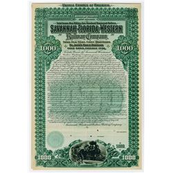 Savannah Florida & Western Railway Co St Johns River Division. 1899. Specimen Bond.