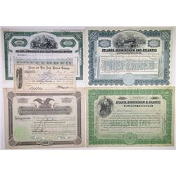 Southern States Railroad Stock Certificate Assortment, 1884-1928