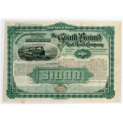 South Bound Rail Road Co., 1890 I/U Partially Redeemed Bond