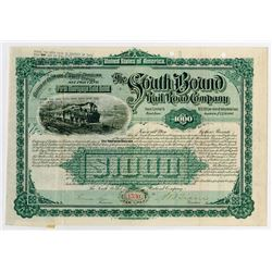 South Bound Rail Road Co., 1890 I/U Partially Redeemed Bond