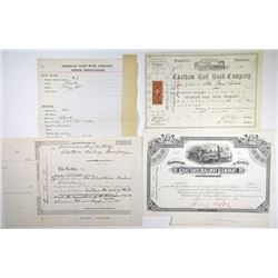 Chattaroi Railway Co. 1880s. Proof Stock Certificate File from ABN Archives.