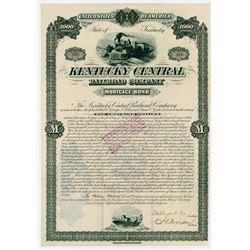 Kentucky Central Railroad Co.,1881 I/U Bond