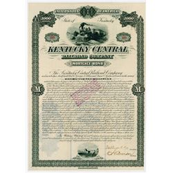 Kentucky Central Railroad Co.,1881 I/U Bond