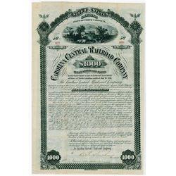 Carolina Central Railroad Co. 1881. I/U Bond.