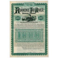 Roanoke & Tar River Railroad Co. 1887. Specimen Bond.