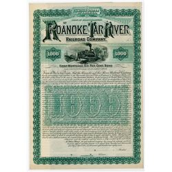 Roanoke & Tar River Railroad Co. 1887. Specimen Bond.