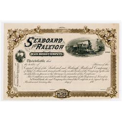Seaboard and Raleigh Rail Road Co., ca.1880-1890 Proof Stock Certificate