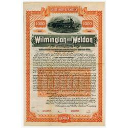 Wilmington and Weldon Railroad Co., 1899 Specimen Bond