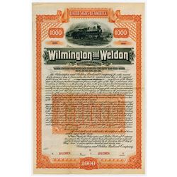 Wilmington and Weldon Railroad Co., 1899 Specimen Bond