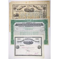 North Carolina Railroad Certificate I/C Trio, 1871-1937