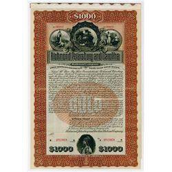 Richmond Petersburg & Carolina Railroad Co. 1899. Specimen Bond.