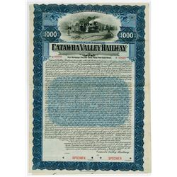 Catawba Valley Railway. 1906. Specimen  Bond.