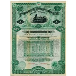 Eutawville Railroad Co. 1885. Specimen Bond.
