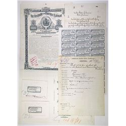 Nashville & Florence Railroad Co. 1881. Proof Bond Production File.