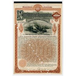 Norfolk Terminal & Transportation Co. 1898. I/C Bond.