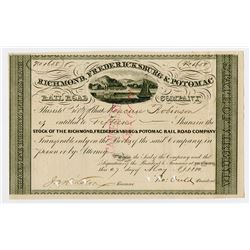 Richmond, Fredericksburg & Potomac Rail Road Co., 1880 I/C Stock Certificate