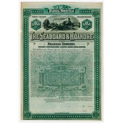 Seaboard & Roanoke Railroad Co., 1886 Specimen Bond