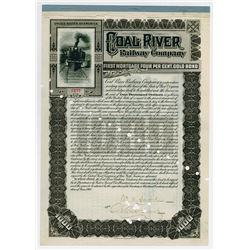 Coal River Railway Co. 1905. I/C Bond.