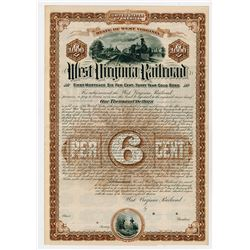 West Virginia Railroad. 1887. I/U Bond.