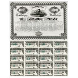 Labrador Company, 1885 Proof Coupon Bond.