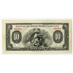 """American Bank Note Co., ca.1920-40 """"Experiment - Specimen"""" Advertising Note."""