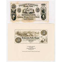 Rawdon, Wright, Hatch & Edson, 1850 Advertising Banknote.